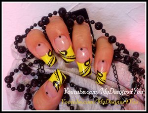Easy, Black and Yellow Fall Nail Art. https://www.youtube.com/watch?v=yT_43ndPSKo