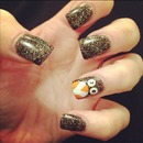 festive christmas penguin nails feature