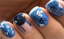 Le Bunny Bleu Nail Art Design + Nail Art Contest!  -  Nail Art Designs How To Design Beginners Nails