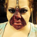Zipper face halloween makeup