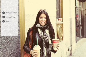 Drinking starbucks in NYC!!!