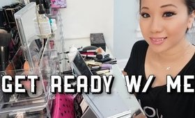 Get Ready w/ ME (Lancome Miracle Cushion Foundation & Kat Von D Shade & Light eyes palette)