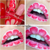 Water marble inspired lips