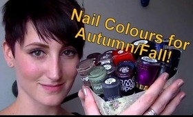 Nail Colours for Autumn/Fall