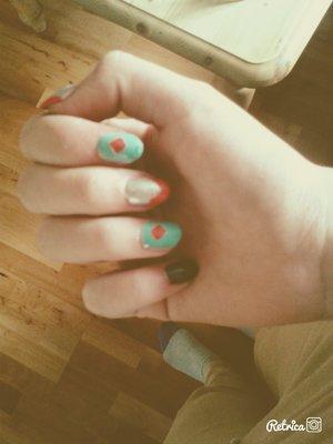 Self made nails^^