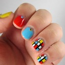 Nail Art Inspired by Mondrian