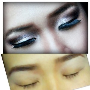 Before and after photo of my puffy monolid eye :) Comments are welcomed