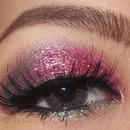 Glimmering glitter on my pink Valentine's day
