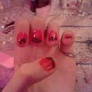 Orange Sharpie Glitter French