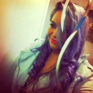 Directions semi permanent hair dye in Lilac!  Toni Doshi eyeshadow from Canada.