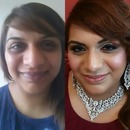 Before & After Picture of my Client