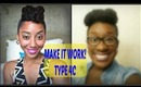 Natural Hair Style Like Hers But Type 4c Series-BeeUtifullyMade Updo