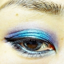 summer eye look Blue×Violet ②