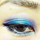 summer eye look Blue×Violet ②