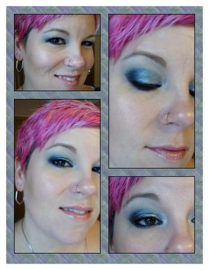 "Frosty Blue Holiday Look using Wet N Wild's ""Bake Off Contest"" baked shadow palette"