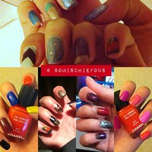 My random colored pickers. :)  LOVE LOVE L💋VE; XXOO. @sOmisCHIEFous