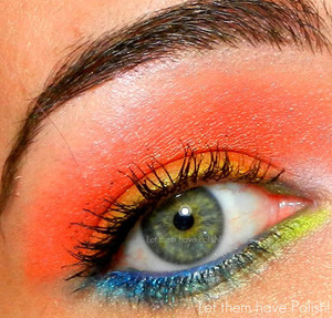 A colorful Sunrise inspired look with Lime Crime Makeup