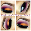 Orange and Purple eyeshadow
