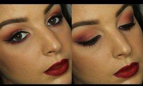 Monochromatic Cranberry Makeup Tutorial ♥