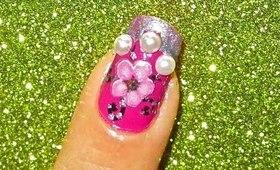 Flower pearl nailart tutorial.... :-)