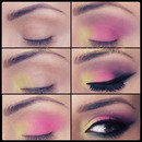 Summerish colorful smokey eyes