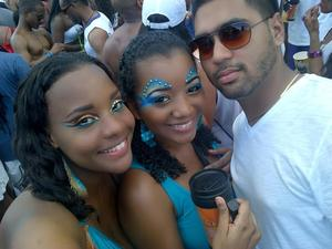 Trinidad Carnival 2012 --- Carnival Monday Makeup by Moi... Safi, me and Chris :)