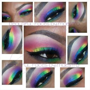 "Today's ""Reverse Rainbow"" beat was created using my @BHcosmetics Take Me To Brazil palette.?  #ShineBrightLikeADiamond #muasupport #hellofritzie #themakeupcollection #anubismakeup #makeup_shoutoutz #missupsher #spiderpinkmakeup #PicOfTheDay #makeupforever #Sugarpillcosmetics #mayamiamakeup #Sephora #beautyguru #Macgirls #makeupmafia #obsessedwithmakeup #mua_dynasty #thebeautybabes #beatfacehoney #instabeauty #poohbeezy #blendthatshit #vegas_nay #theboyandhismakeup #the_makeup_world #eyemakeup #eyeshadow #makeupgeekxo."