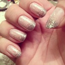 Pink and Silver Glitter Ombré