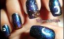 Dark Starry Night Nail Art / Diseño Noche Estrellada
