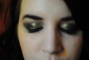 Gold and bronze smokey eye http://amazaballs.blogspot.com/2011/10/fotd-102011.html