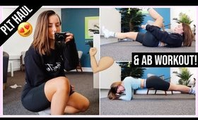 TESTING CHEAP WORKOUT CLOTHING 😳  PLT HAUL + AB WORKOUT 💪🏼   AD