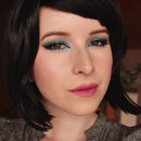 Metallic Blue Makeup