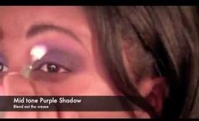 Purple Rain: Bright Purple Eyes