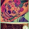 Skull Candy & Rose tattoo
