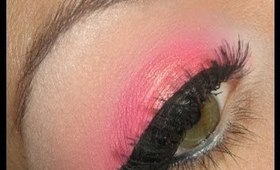 Dramatic hot pink make-up tutorial