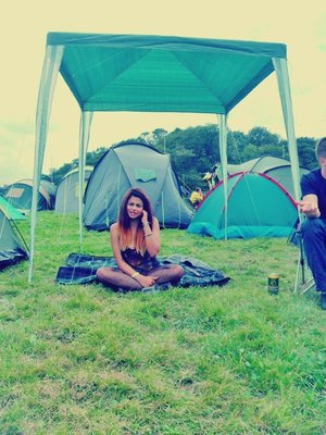 Dip dyed at Creamfields/ 1st day!