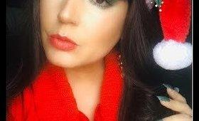 Christmas Look Using Vegan Eyeshadows