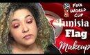 Tunisian Flag Inspired Makeup Tutorial FIFA World Cup (NoBlandMakeup)