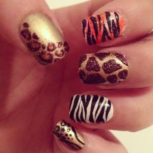 Leopard. Tiger. Giraffe. Zebra. Cheetah