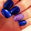 Dark Blue with Purple glitter
