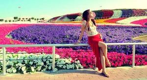 At Miracle Garden in Dubai, UAE