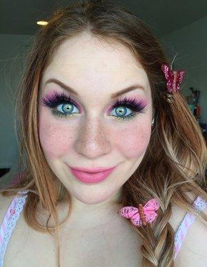 Flowers, Butterflies..... http://theyeballqueen.blogspot.com/2016/10/springy-meadow-nymph-makeup-tutorial.html