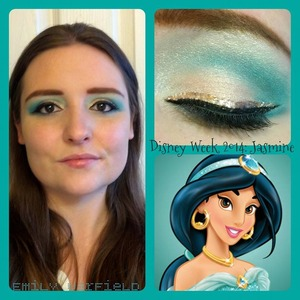 So my friends told me that this week is Disney Week, where you are supposed to dress up as a character each day. Here's my take on Jasmine (I don't have any kind of costume, so I did makeup instead).