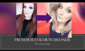 Hair Care - box color to blonde