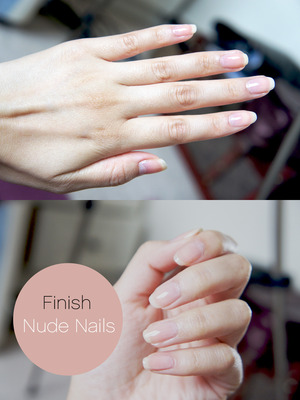 Using Loccitane One minute Hand scrub and elf nail polish  Step by steps at www.kakabeautyblog.com