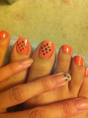 Morgan Taylor-Candy Coated Coral Sparitual-Dreams Becoming Reality No topcoat; but I use Seche Vite.