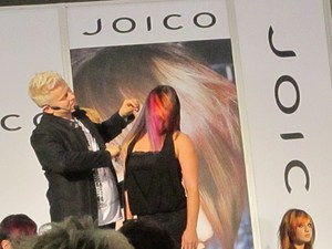 Joico Hair color was amazing !! she had about four diffrent fun colors in there