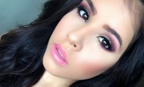 HOW TO: Day time or Night time fall 2013 glam look! Fuchsia & Gold makeup tutorial.