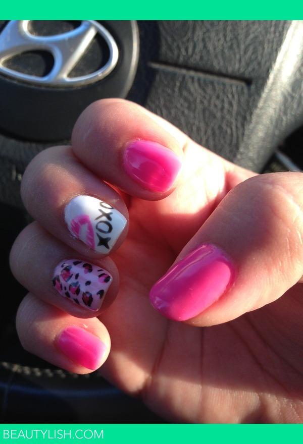 Pink Betsy Johnson Nails With Lips And Cheetah Tina Ps Photo