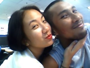 Red lippie with bf